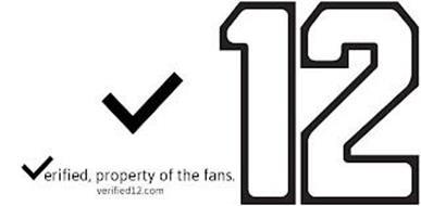 V12 VERIFIED, PROPERTY OF THE FANS. VERIFIED12.COM