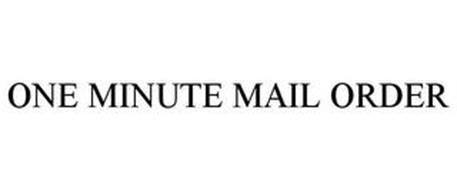 ONE-MINUTE MAIL ORDER
