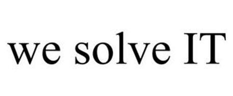 WE SOLVE IT