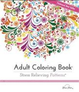 NATIONAL BEST SELLER, ADULT COLORING BOOK, STRESS RELIEVING PATTERNS, BLUE STAR