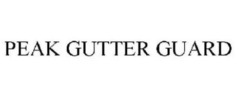 Peak Gutter Guard Trademark Of Peak Innovations Inc