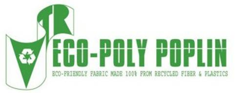 VTR ECO-POLY POPLIN ECO-FRIENDLY FABRIC MADE 100% FROM RECYCLED FIBER & PLASTICS