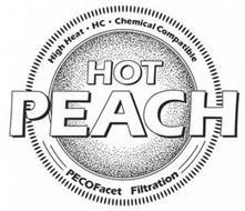 HOT PEACH HIGH HEAT · HC · CHEMICAL COMPATIBLE PECOFACET FILTRATION