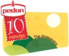 PEDON 10 MINUTES THE TIMESAVERS