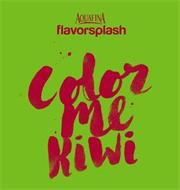 AQUAFINA FLAVORSPLASH COLOR ME KIWI