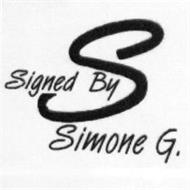 SIGNED BY S SIMONE G.