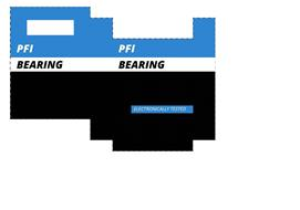 PFI BEARING ELECTRONICALLY TESTED