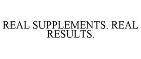 REAL SUPPLEMENTS. REAL RESULTS.