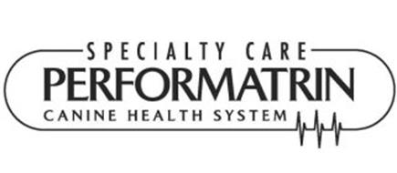 Specialty Care Performatrin Canine Health System Trademark