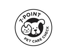 7 ¿ POINT PET CARE CHECK