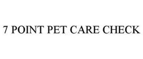 7·POINT PET CARE CHECK