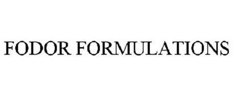 FODOR FORMULATIONS