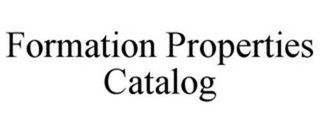 FORMATION PROPERTIES CATALOG
