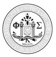 STELLIS AEQUUS DURANDO MDCCCL SEAL OF THE GRAND CHAPTER OF THE PHI KAPPA SIGMA FRATERNITY