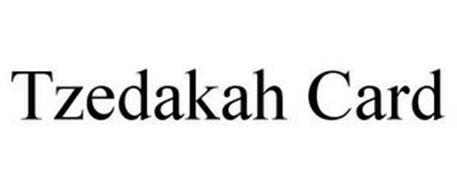 TZEDAKAH CARD