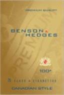 BENSON & HEDGES 100S PREMIUM QUALITY BH PREMIUM BH 25 CLASS A CIGARETTES CANADIAN STYLE