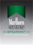 MARLBORO SNUS SPEARMINT 6 SPIT-FREE TOBACCO POUCHES