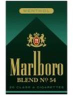 MENTHOL PM USA MARLBORO BLEND NO. 54 20 CLASS A CIGARETTES