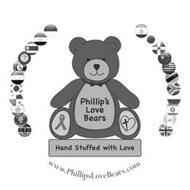 PHILLIP'S LOVE BEARS HAND STUFFED WITH LOVE WWW.PHILLIPSLOVEBEARS.COM