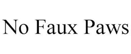 NO FAUX PAWS