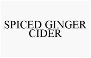 SPICED GINGER CIDER