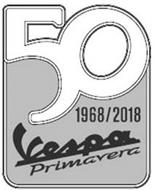 50 VESPA PRIMAVERA 1968/2018