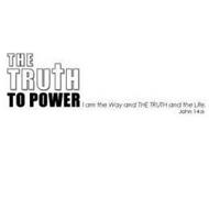 THE TRUTH TO POWER I AM THE WAY AND THETRUTH AND THE LIFE. JOHN 14:6