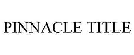 PINNACLE TITLE