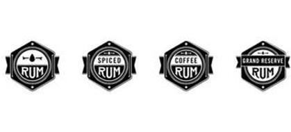 RUM SPICED RUM COFFEE RUM GRAND RESERVE RUM