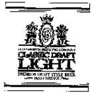PBC PITTSBURGH BREWING COMPANY CLASSIC DRAFT LIGHT PREMIUM DRAFT STYLE BEER PASTEURIZED