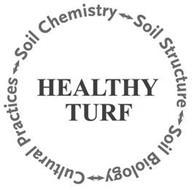 HEALTHY TURF SOIL CHEMISTRY SOIL STRUCTURE SOIL BIOLOGY CULTURAL PRACTICES
