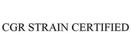 CGR STRAIN CERTIFIED