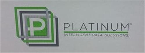 P PLATINUM INTELLIGENT.DATA.SOLUTIONS.