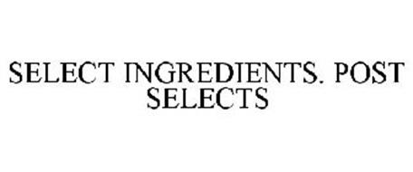 SELECT INGREDIENTS. POST SELECTS