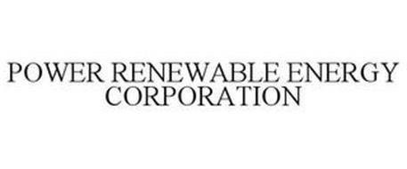 POWER RENEWABLE ENERGY CORPORATION