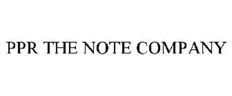 PPR THE NOTE COMPANY