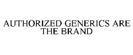 AUTHORIZED GENERICS ARE THE BRAND
