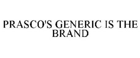 PRASCO'S GENERIC IS THE BRAND