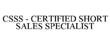 CSSS - CERTIFIED SHORT SALES SPECIALIST