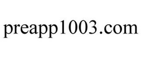 PREAPP1003