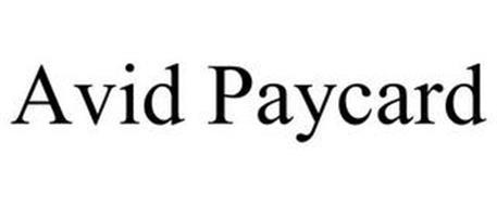 AVID PAYCARD