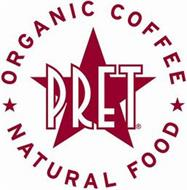 PRET ORGANIC COFFEE NATURAL FOOD