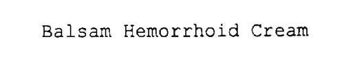 BALSAM HEMORRHOID CREAM