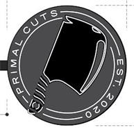 PRIMAL CUTS EST. 2020 (WITH PICTURE OF CLEAVER)