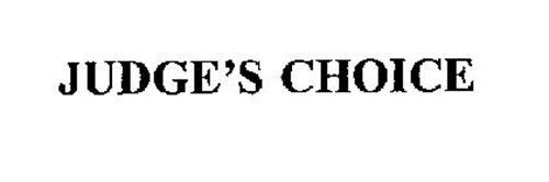 JUDGE'S CHOICE
