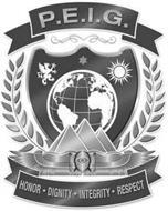 P.E.I.G. LOGO HONOR · DIGNITY · INTEGRITY
