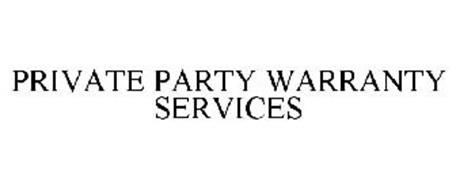 PRIVATE PARTY WARRANTY SERVICES