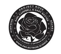 PROJECT ROSE EARL CAMPBELL & GARY BAXTER SPORTS SCIENCE OPTIMUM HEALTH RESEARCH CENTER WWW.PROJECTROSE.SCIENCE