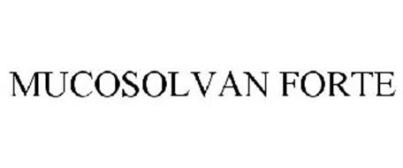 MUCOSOLVAN FORTE Trademark of Promesa Distributors, Inc