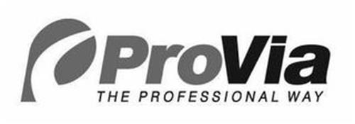 P PROVIA THE PROFESSIONAL WAY